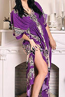 Штапельное платье в пол для дома и отдыха БП