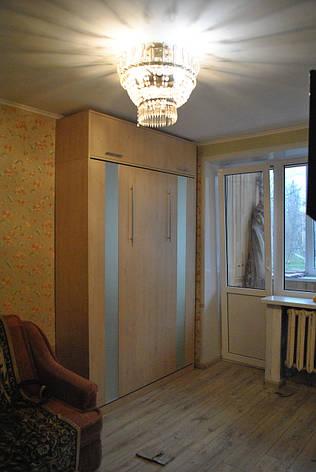 Шкаф кровать фасад вставки стекло, фото 2