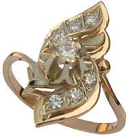 Золотое кольцо с накладкой Вистерия