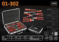 Набор шарнирно-губцевого инструмента с отвертками 1000В., 7 шт., NEO 01-302