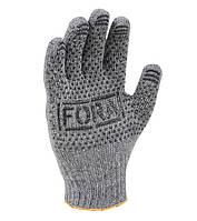 Рабочие перчатки ХБ с ПВХ 7 класс Doloni FORA 15400