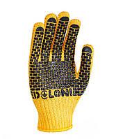 Рабочие строительные перчатки трикотажные с ПВХ 7 класс Doloni Строитель 4078