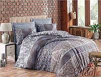 Набор постельного белья сатин  200х220 Cotton box Royal Saten ALBERTA KAHVE