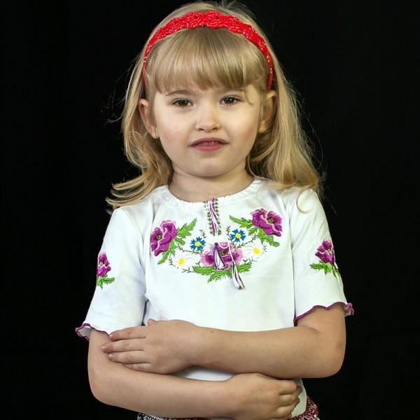 вышитая футболка для девочки