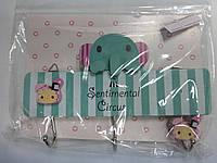 Крючок для полотенец (набор из 3шт) деревянн.детск.сувенирн.