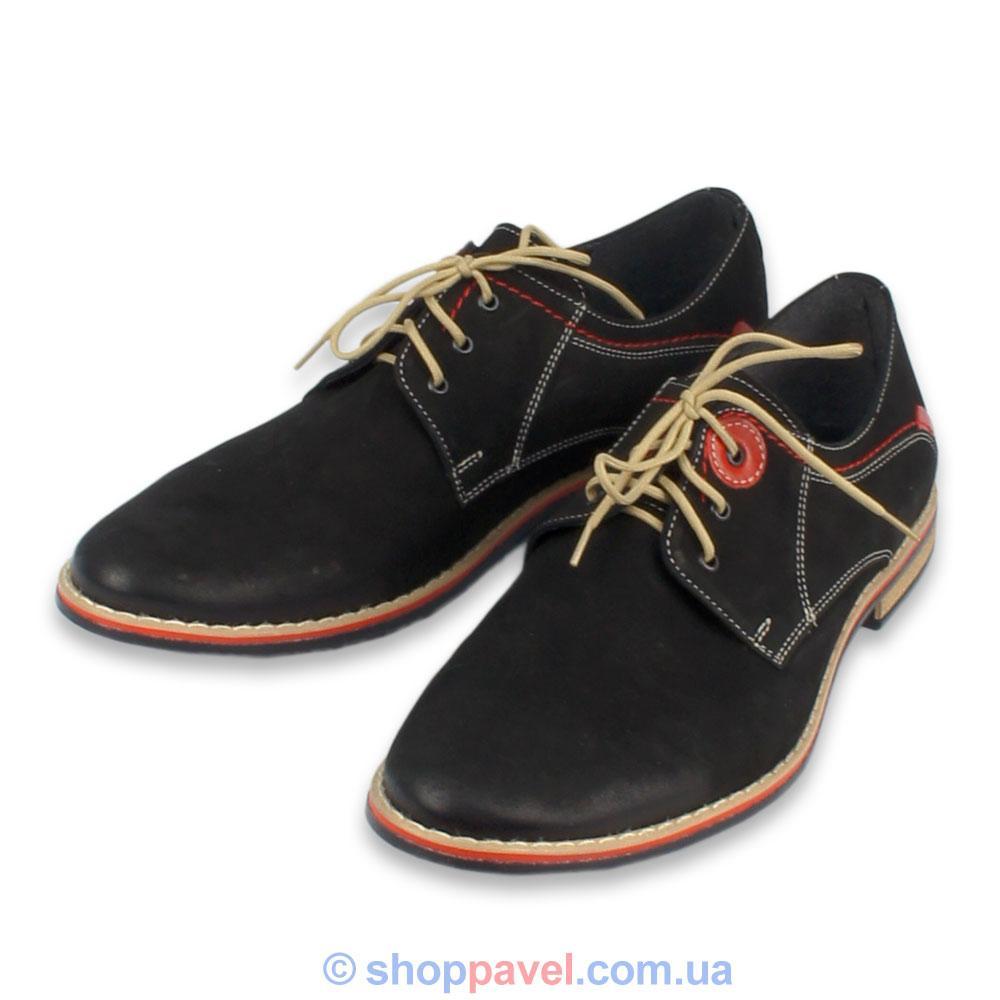 Туфли мужские классичесские Markko M-174  нубук черные