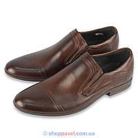 15ebe8392 Туфли мужские классические Tapi B-5704 коричневые лоферы.