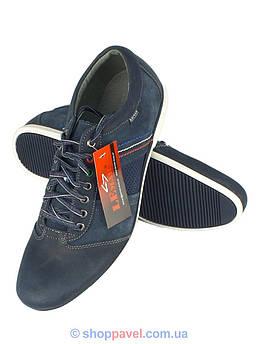 Кроссовки мужские Lemar 961 кожаные синего цвета