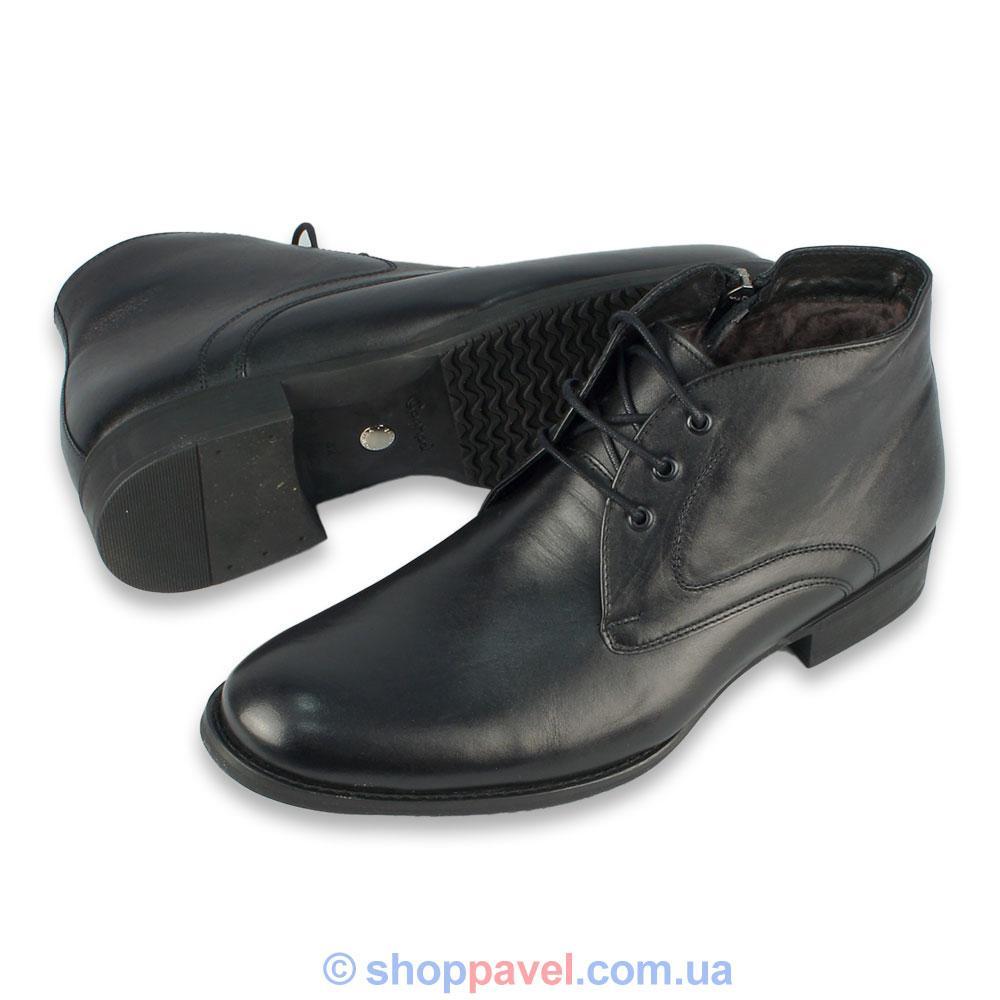 Ботинки мужские зимние кожаные Conhpol C-4110к (Польша)