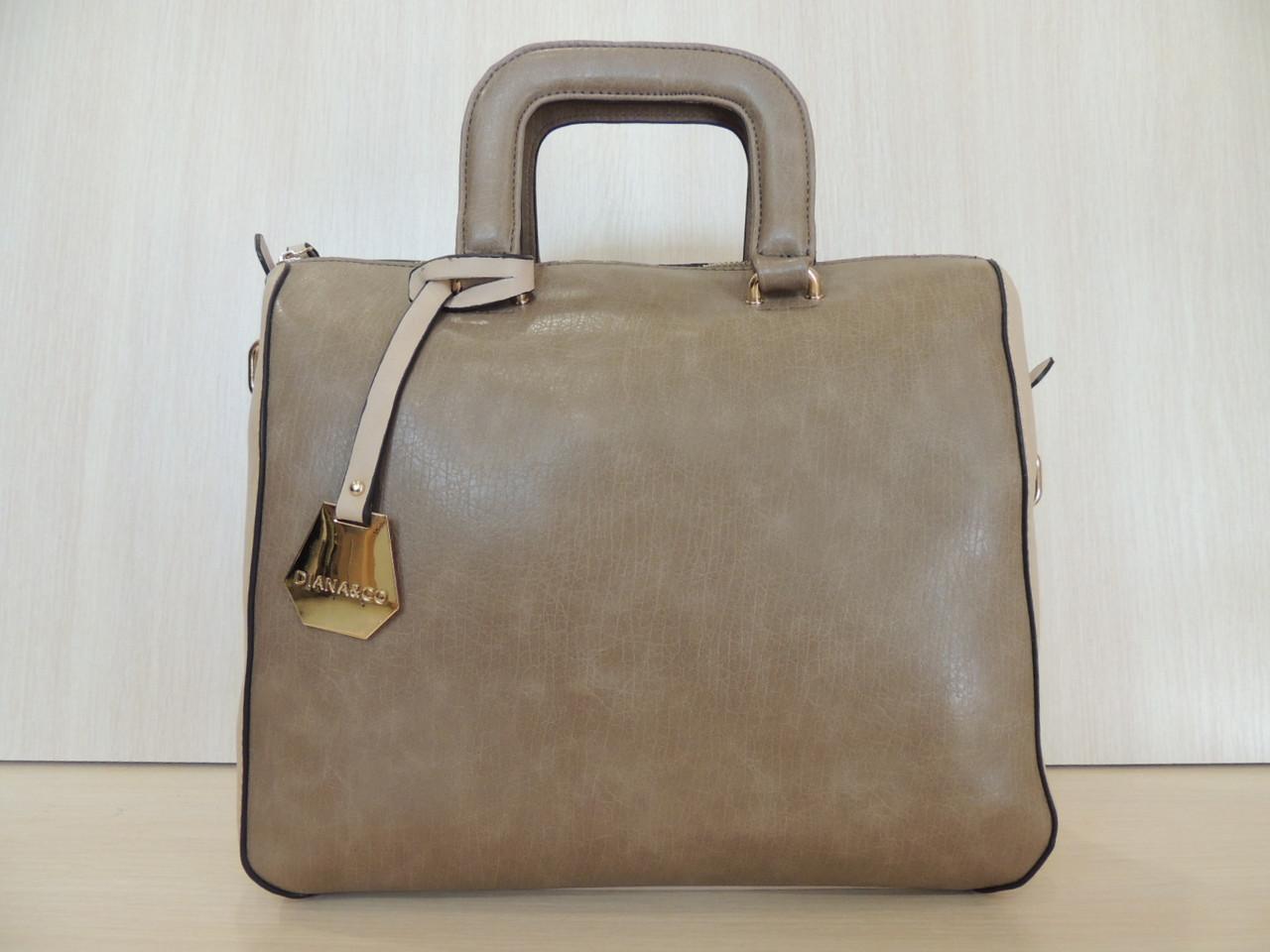 Стильная сумка женская эко-кожа. Италия Кофе с молоком