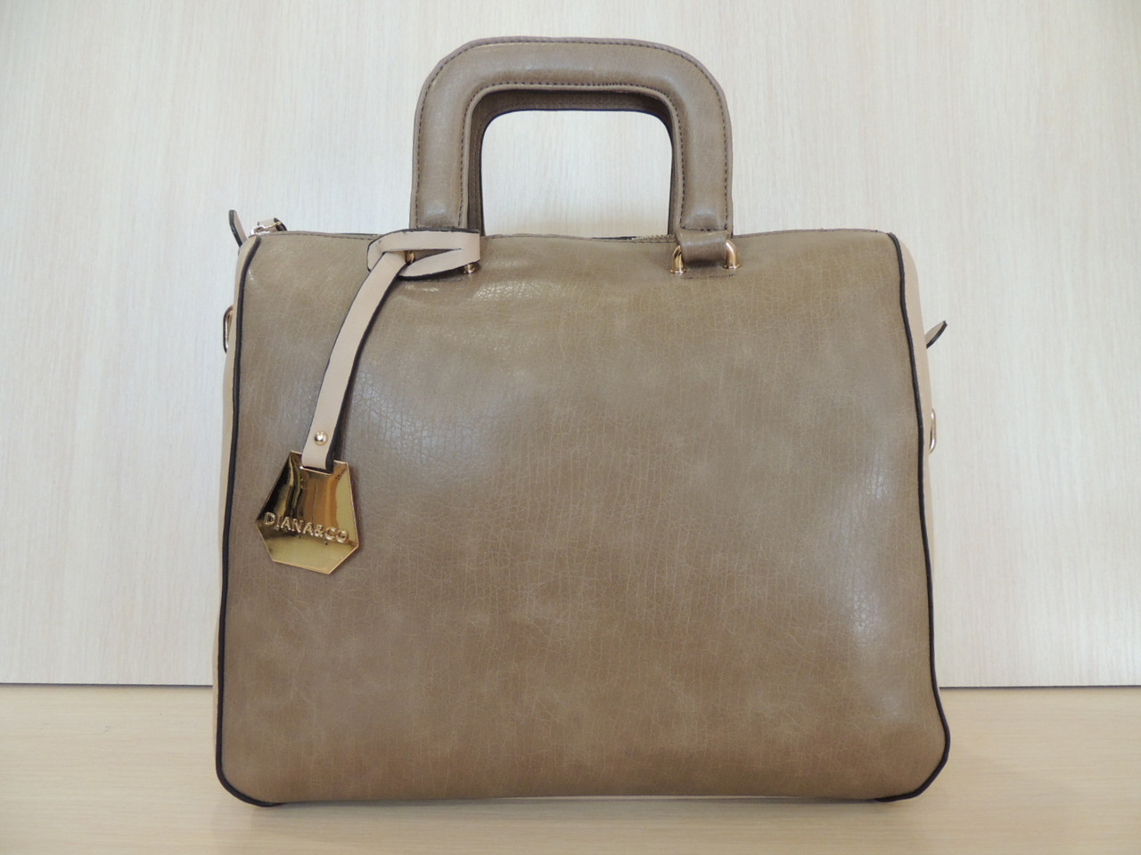 Стильная сумка женская эко-кожа. Италия Кофе с молоком, фото 1