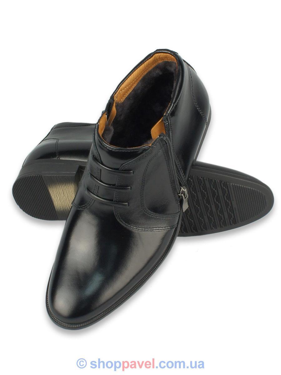 Ботинки зимние мужские кожаные Tapi 2216 (цвет черный)