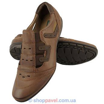 Туфли летние мужские Lemi 97 коричневые.