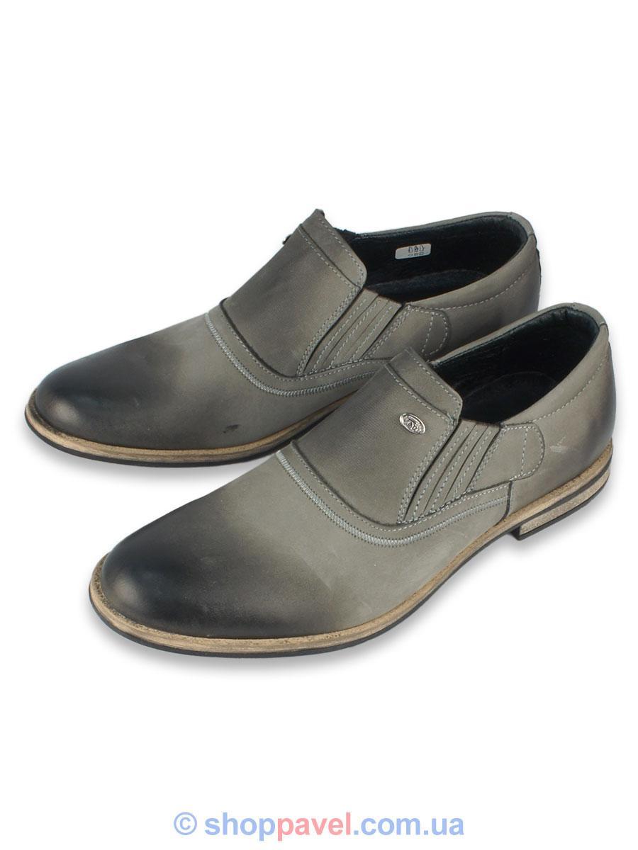 Туфлі чоловічі класичні Tapi 4464 нубук сірі