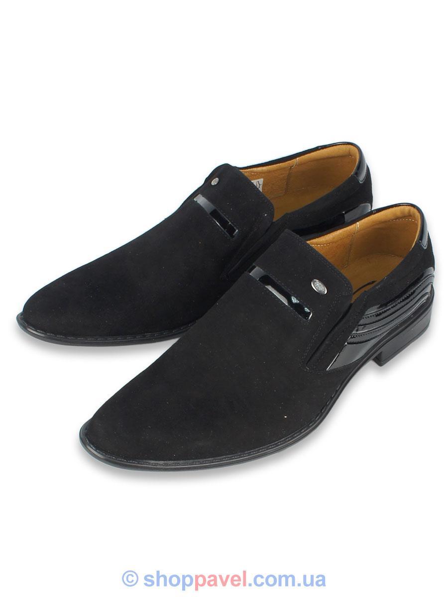 d641157a7 Классические мужские туфли Tapi 4032 замшевые черные для настоящих ...