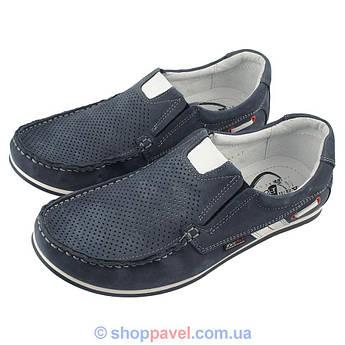 Туфли летние мужские Kam Poll 53 синего цвета