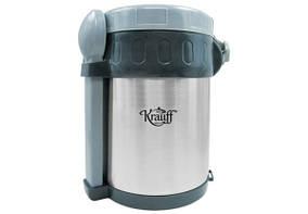 Термос Krauff для еды 2 л (пластиковые емкости-3 шт, ложка-1 шт, вилка-1 шт) 26-178-045