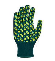 Рабочие перчатки трикотажные с полимерным покрытием ПВХ 13 класс Doloni Весенние цветы 4116