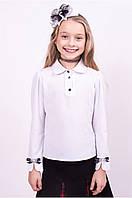 Элегантная Блузка школьная длинный рукав Рост 122-152