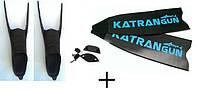 Сэндвич карбоновые ласты для подводной охоты KatranGun; в калошах Mares Razor