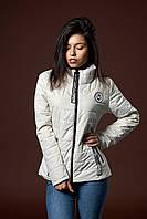 Женская молодежная демисезонная куртка. Код модели К-94-36-17. Цвет молочный.