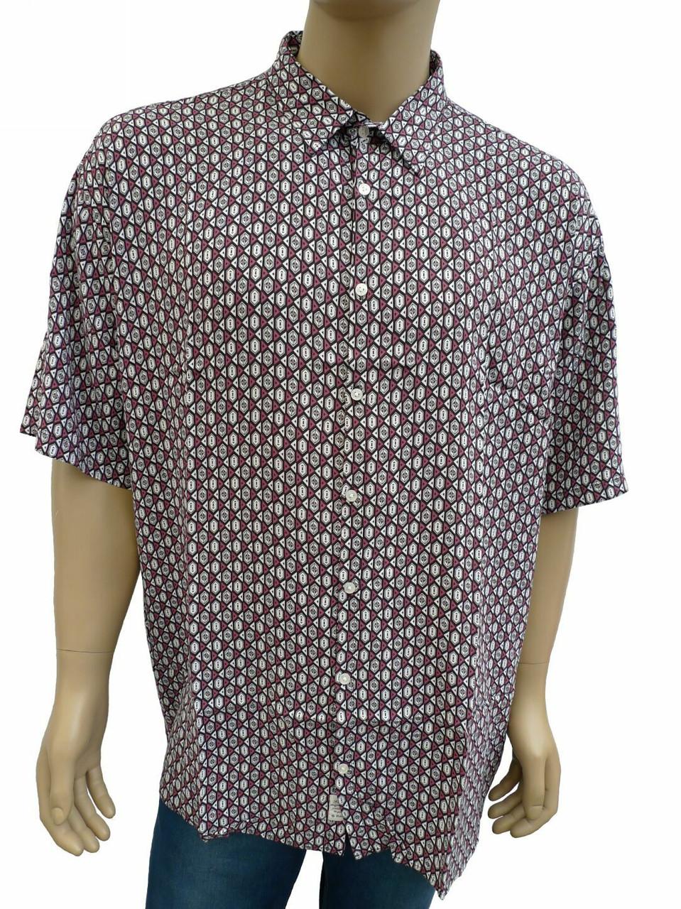 Рубашка мужская хлопок-бук-бамбук большой размер