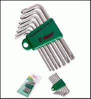 HANS. Комплект угловых ключей TORX 7 пр. (с отверстием) (16754-7TH)
