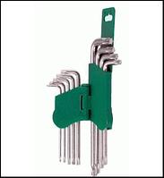 HANS. Комплект угловых ключей TORX 9 пр. (с отверстием) (16752-29TH)