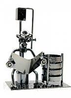 Техно-арт подставка для ручек Читатель, металл 17,5х13