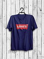 Футболка мужская Levis темно-синяя