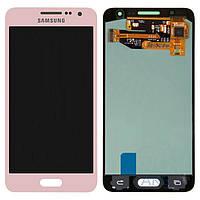 Дисплей (экран) для телефона Samsung Galaxy A3 A300F, Galaxy A3 A300FU, Galaxy A3 A300H + Touchscreen Original Pink