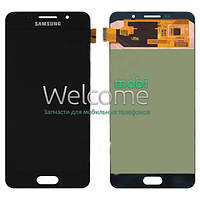 Дисплей (экран) + сенсор (тач скрин) Samsung SM-A710H Galaxy A7 black service (оригинал)