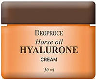 Deoproce horse oil HYALURONE cream Крем на основе конского жира и гиалуроновой кислоты 50 мл