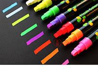 Меловой маркер на водной основе Flash Color набор 8 цветов