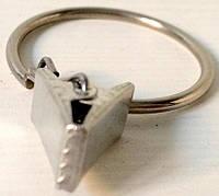 Прищепка Железная для железного карниза с кольцом D-26, (100шт)