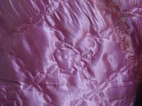Атласная ткань на синтепоне