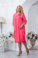 Стильное платье  для женщин пышных форм 2766