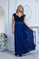Оригинальное платье в пол большого размера 2741