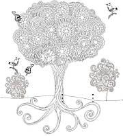 Обои - раскраски / раскраска / детское творчество Дерево 60х60см