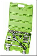 """Alloid. Универсальный набор инструмента 1/4""""&1/2"""", 55 предм. (НГ-4055П)"""