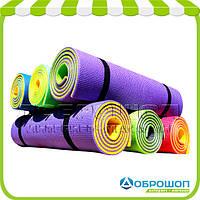 Фитнес коврик для тренировок «Премиум-10» 1800x600x10 мм
