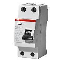 Пристрій захисного відключення (УЗО) АВВ FH202 AC-63/0,03