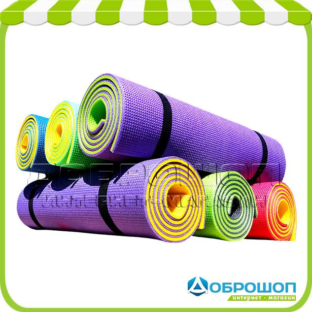 Фитнес коврик для спорта «Премиум-10» 1800x600x10 мм