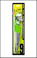 Alloid. Набор ключей шестигранных, изогнутых удлиненных . 9 пр. 1,5-10 мм. (НШ-0918)