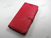 Кожаный чехол книжка Wileyfox Swift 2X (красный)