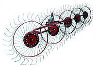 Грабли-ворошилки 5-ти колёсные Agromech на круглой трубе (Украина-Польша, спица оцинкованная)