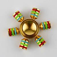 Спиннер металлический 6-ти конечный Gold Spinner metal 148