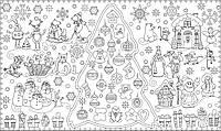 Обои - раскраски / раскраска / детское творчество Новогодняя Сказка 60х100 см