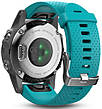 Смарт-годинник Garmin fenix 5S Silver with Turquoise Band, фото 2