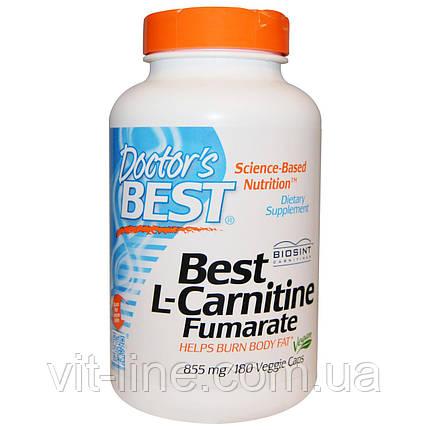 Doctor's Best, Лучший L-карнитина фумарат, 855 мг, 180 вегетарианских капсул, фото 2